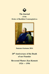 Cover image of the Journal of the Order of Buddhist Contemplatives